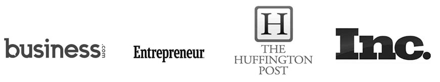 Seen in Business.com, Entrepreneur, The Huffington Post and Inc.